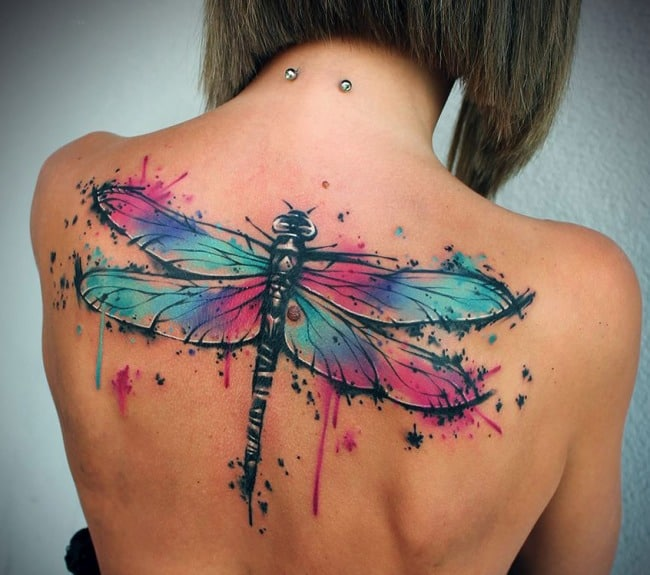 160 popular dragonfly tattoos and meanings may 2018. Black Bedroom Furniture Sets. Home Design Ideas