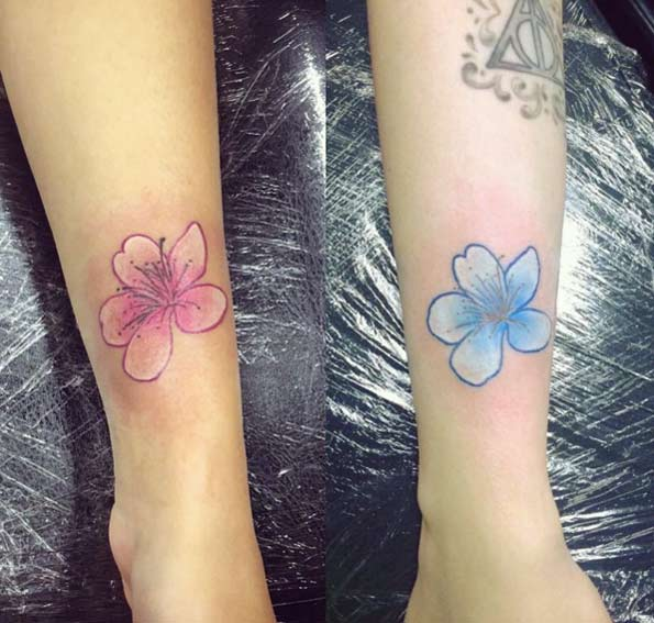 Cherry Blossom Sister Tattoo by Hannah