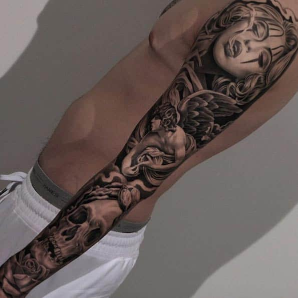 Full Sleeve Tattoo by Jun Cha