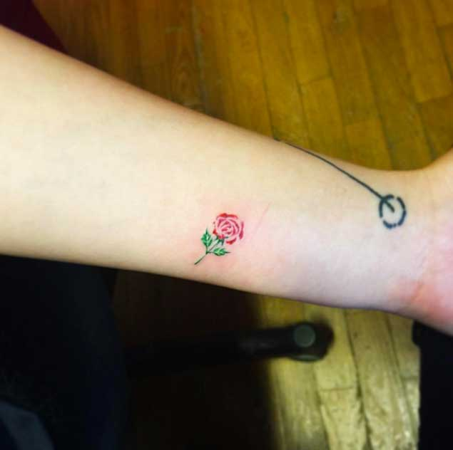 Tiny Rose Tattoo