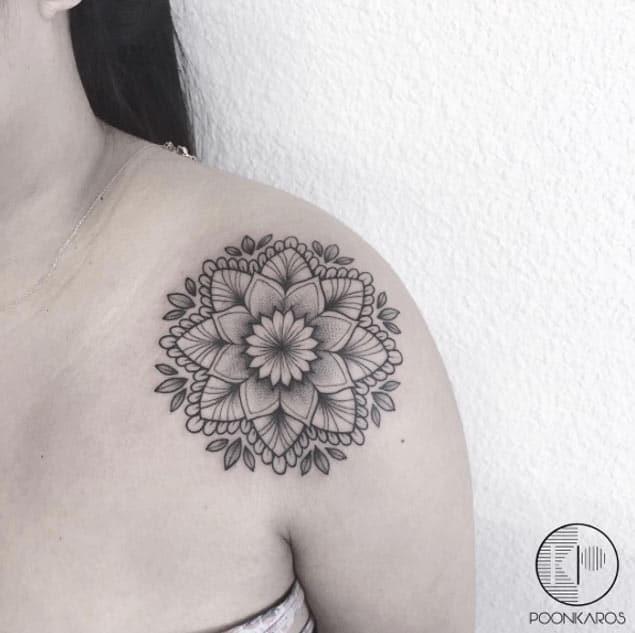 Shoulder Tattoo Design by Karry Ka-Ying