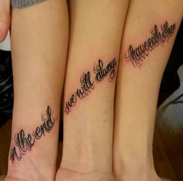 150 Heart Touching Sister Tattoos Ideas (February 2018)