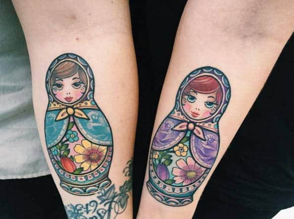 Russian Nesting Doll Sister Tattoos by Deanna Taylor