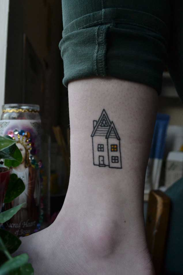 150 cute small tattoos ideas for men women girls april 2018 for Minimalist house tattoo