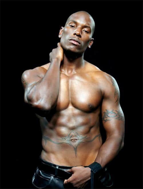 Tyrese Gibson's Stomach Tattoo