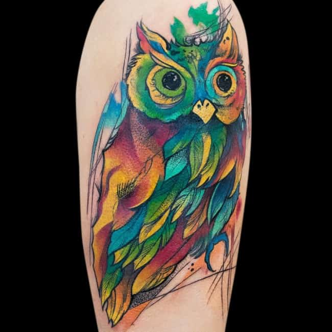 Tattoo Ideas Color 85: 150 Artistic Watercolor Tattoos Ideas (Ultimate Guide 2019