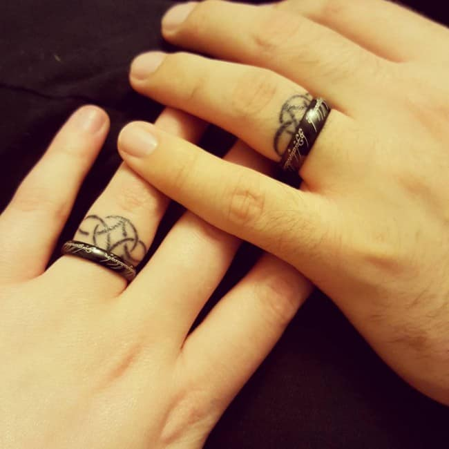 wedding ring tattoo 14 - Wedding Rings Tattoos