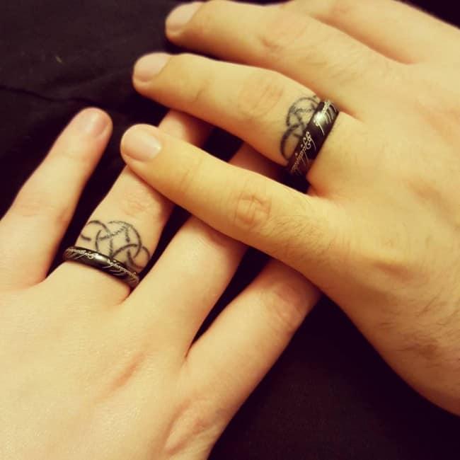 Wedding Ring Tattoo 14
