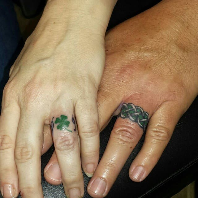 wedding ring tattoo 6 - Tattoo Wedding Rings