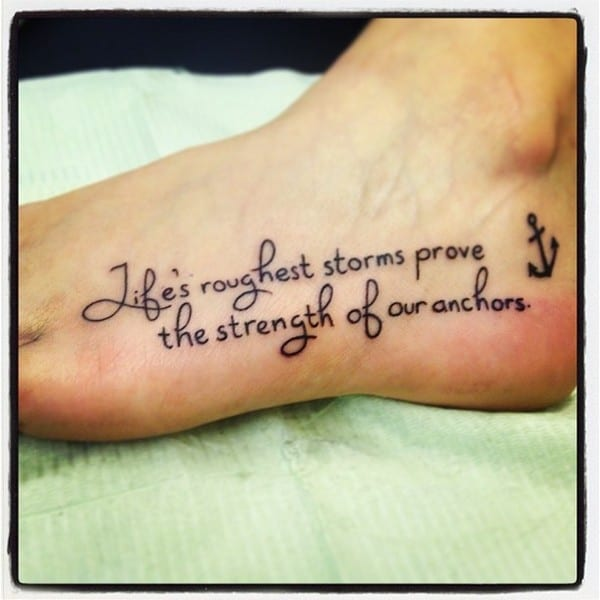 Deep meaning quotes tattoo