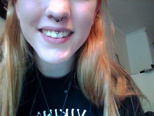 Smiley Piercing designs 53