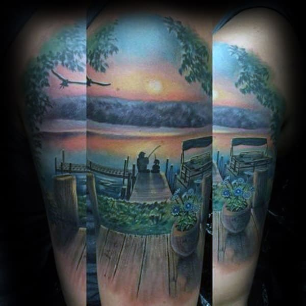 150 best memorial tattoos ideas may 2018 part 2 for Father son memorial tattoos