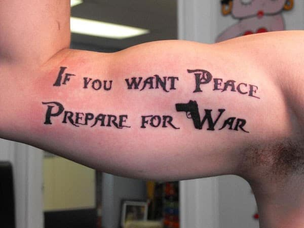 peace tatoo quote