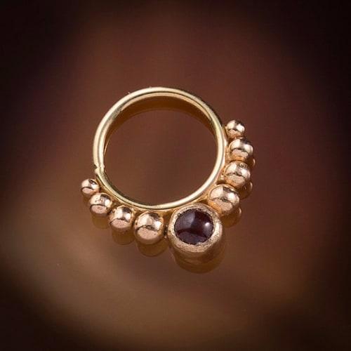 Smiley Piercing Rings