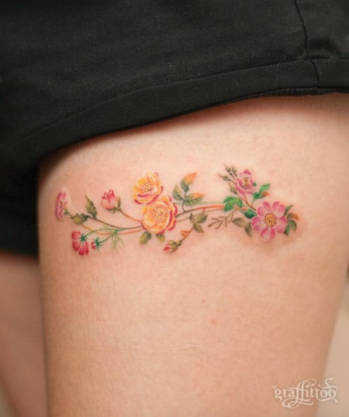 Colorful Floral Work by River