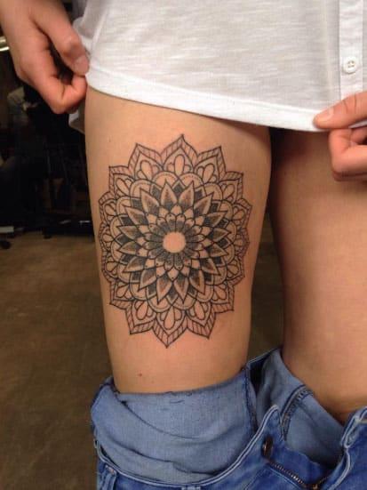 Mandala Thigh Piece by Poppy