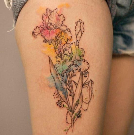 Watercolor Iris by River