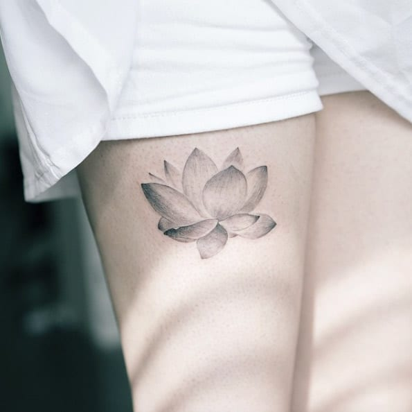 Elegant Lotus Flower by Sol Art