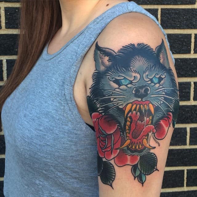 4e5aa1c1883f 150 Meaningful Wolf Tattoos (An Ultimate Guide