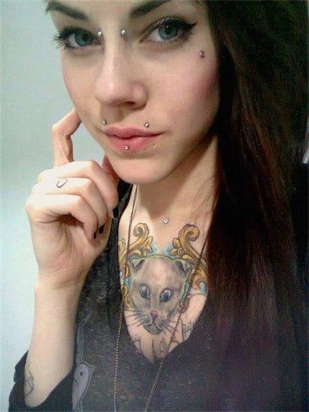 Awesome Microdermal Piercing
