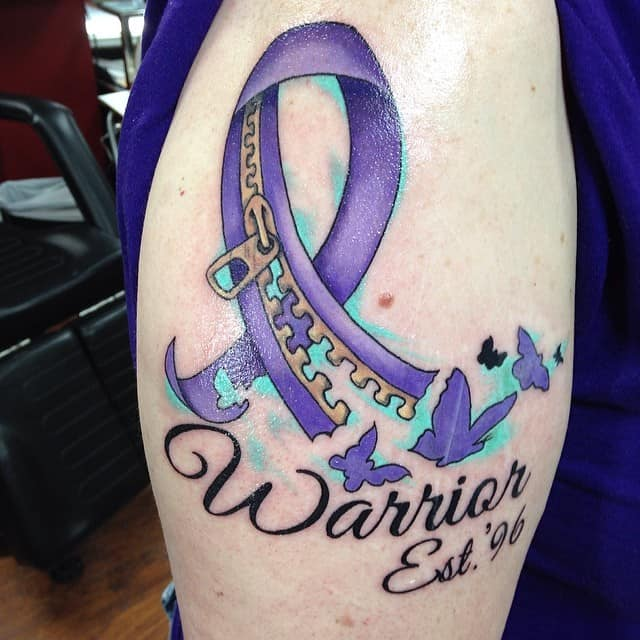 130 Inspiring Breast Cancer Ribbon Tattoos (May 2018) - Part 2