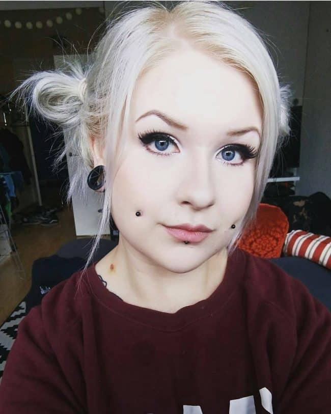 88 Cheek Piercing Designs To Highlight Your Natural Dimples  |Cheek Microdermal Piercing