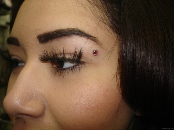 Hide How Piercing Eyebrow To An