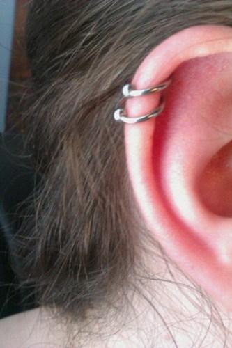 Green Ring Around Tongue Piercing