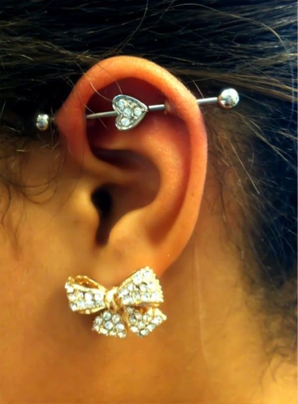 150 industrial piercing examples jewelry pain cost healing. Black Bedroom Furniture Sets. Home Design Ideas
