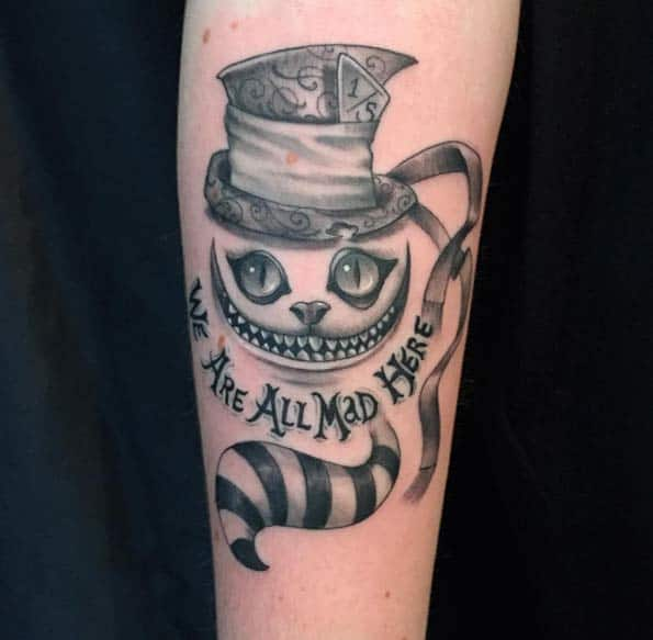 Cheshire Cat Tattoo by Cavelluccit