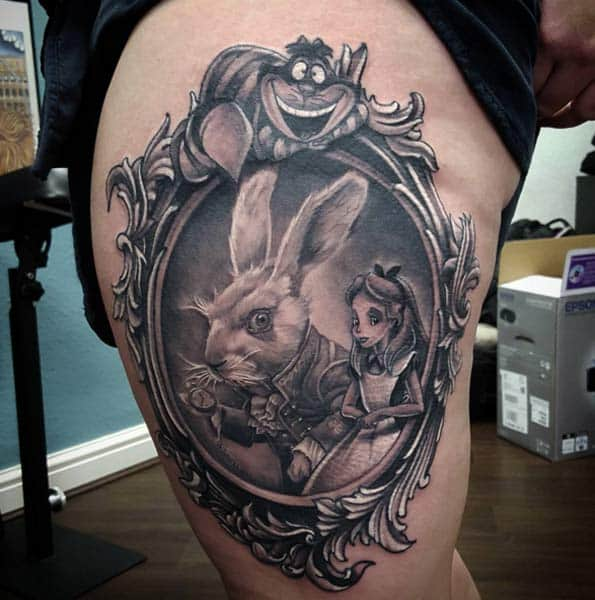 Alice in Wonderland Tattoo Nick Imms