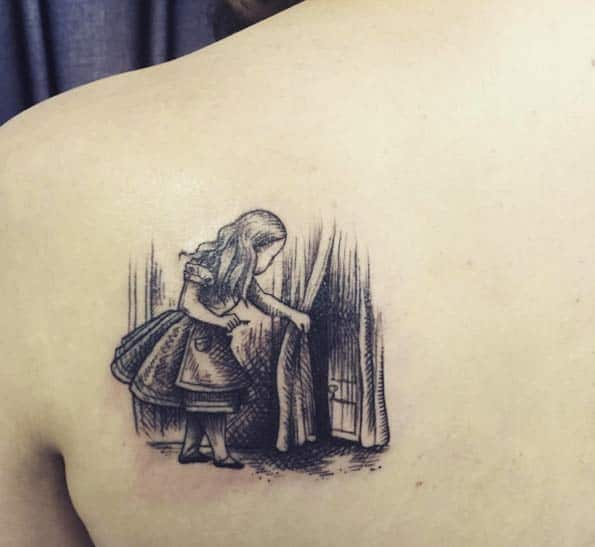 Alice in Wonderland Tattoo by Sudsy