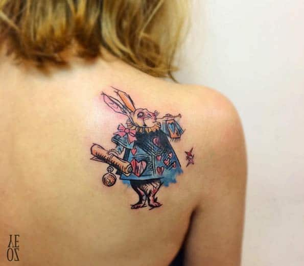 Alice in Wonderland Tattoo by Yeliz Ozcan