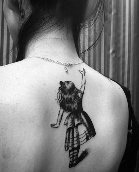 Alice in Wonderland Tattoo by Larzy