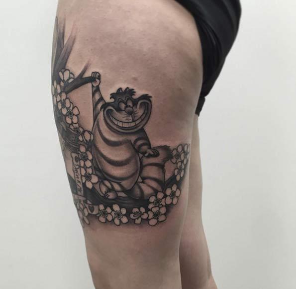 Alice in Wonderland Tattoo by Moritz Piwon
