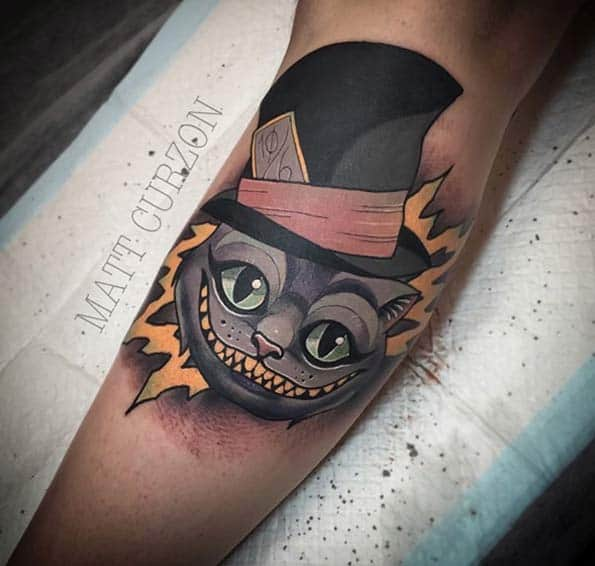 Alice in Wonderland Tattoo by Matt Curzon