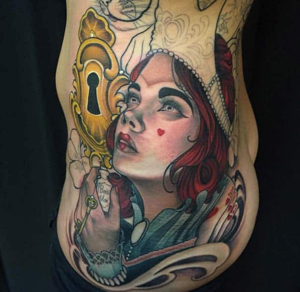 Alice in Wonderland Tattoo by Eilo