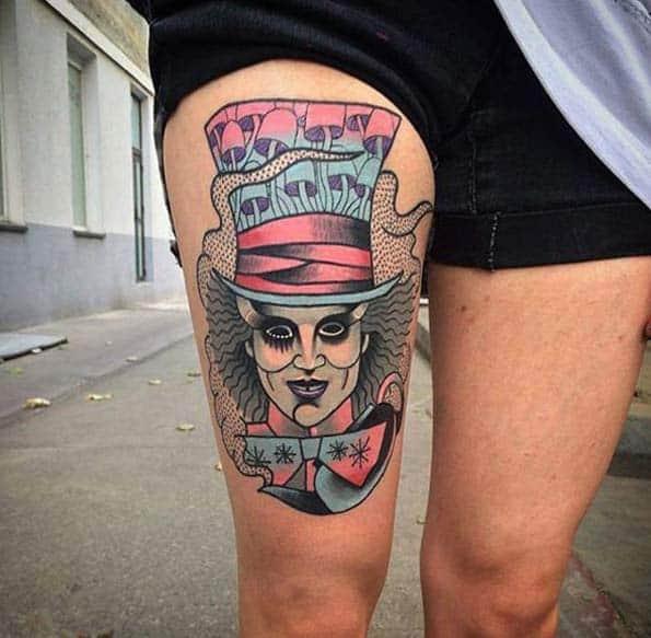 Johnny Depp Mad Hatter Tattoo by Balon