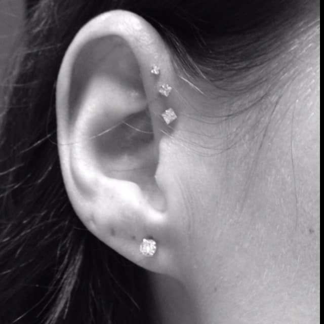 50 forward helix piercing ideas jewelry pain infection healing. Black Bedroom Furniture Sets. Home Design Ideas