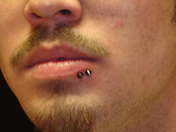 Spider Bite Piercing With Spike Studs For Men
