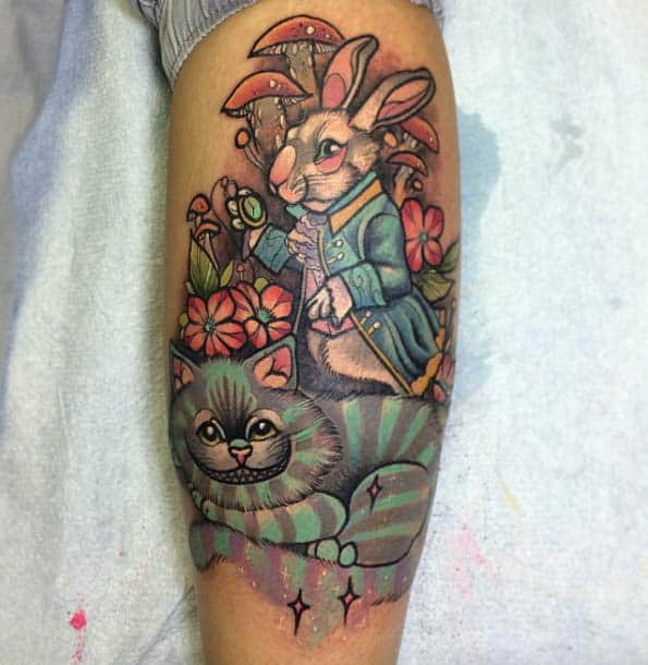 Alice in Wonderland Tattoo by Helena Darling