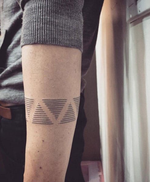Linear Triangles by Miami Tattoo Co