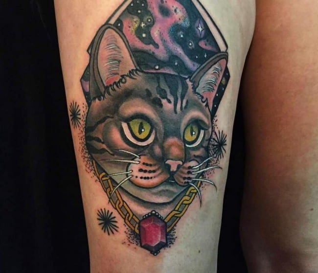 150 Cutest Cat Tattoos Meanings Ultimate Guide September 2018