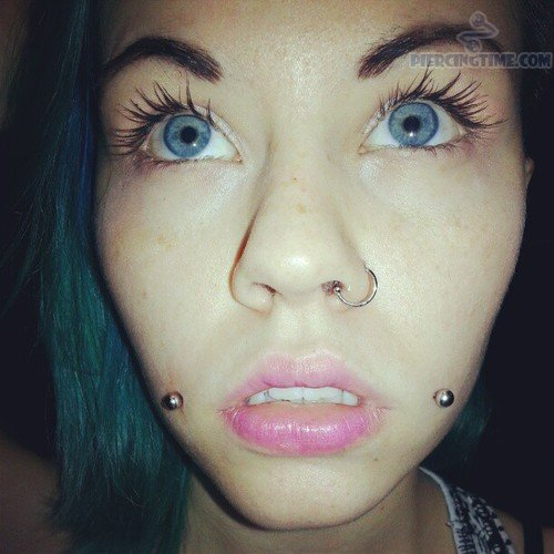 Dahlia Bites Piercing With Long Barbells