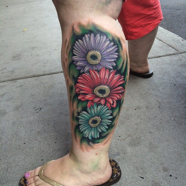 Purple Daisy Tattoo: 150 Amazing Daisy Tattoos & Meanings (Ultimate Guide, June