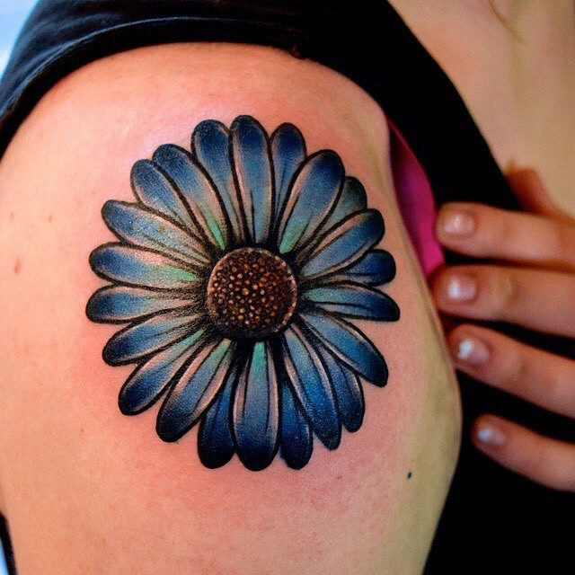 Color Daisy Tattoo: 150 Small Daisy Tattoos Meanings (Ultimate Guide, July 2019