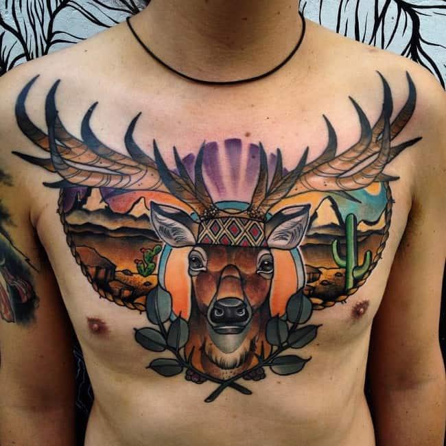 150 Meaningful Deer Tattoos An Ultimate Guide September 2018