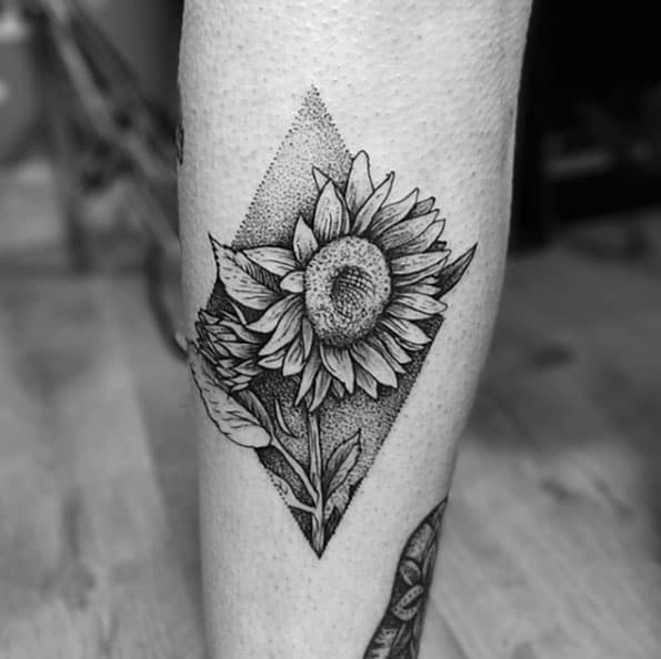 150 Vibrant Sunflower Tattoos And Meanings August 2018
