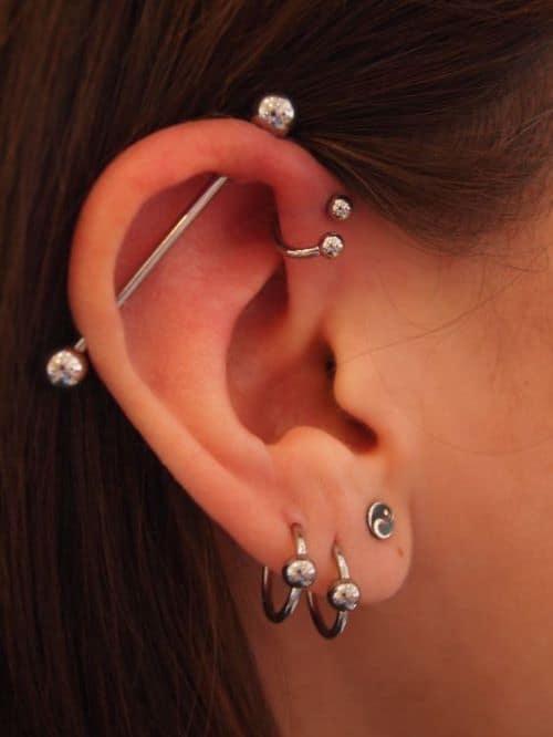 Double Forward Helix Piercings