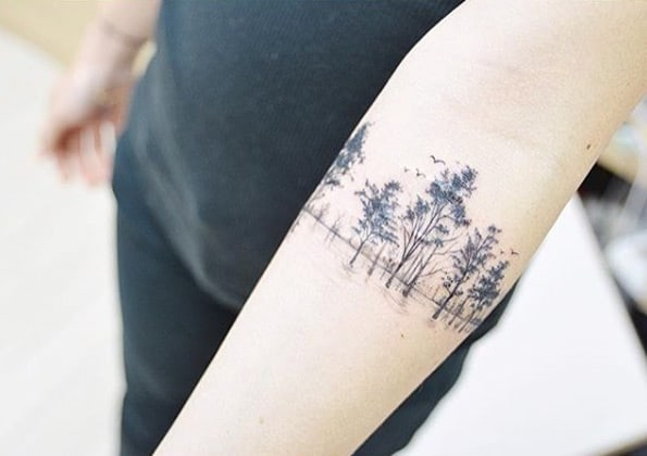 Treeline armband tattoo by Banul